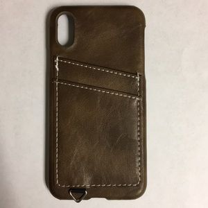 iPhone X-XS Credit Card Case (brown)